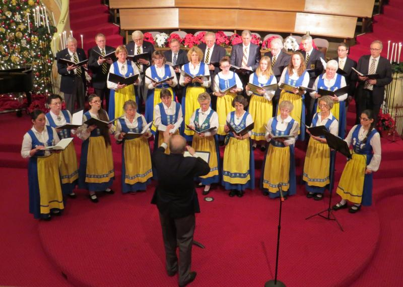 Svea Male & Swedish Women's Choruses performing at First Covenant Church 12/8/15